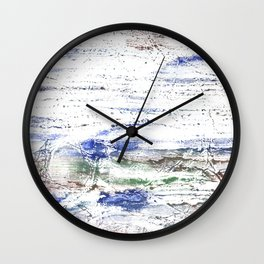 Multicolored clouded wash drawing painting Wall Clock