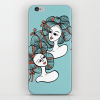 ramen iPhone & iPod Skins featuring Ramen Girls by Littlearty