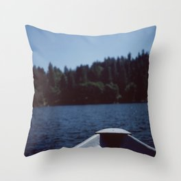 Row Boat Throw Pillow