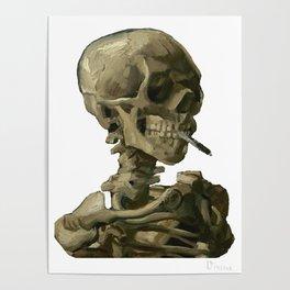 Van Gogh, Head of Skeleton Artwork Skull Reproduction, Posters, Tshirts, Prints, Bags, Men, Women, K Poster