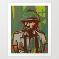 police Art Prints featuring Police by Steeze Abiola