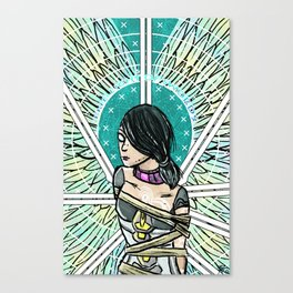Borderlands Tarot: The 8 of Swords Canvas Print