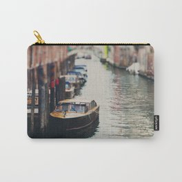A boat moored on a Venice canal ... Carry-All Pouch