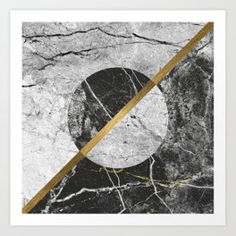 Contemporary gold marble 02 Art Print