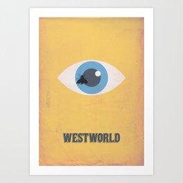 Westworld Minimalist Alternative poster Art Print