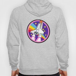 pink rainbow rocket Hoody