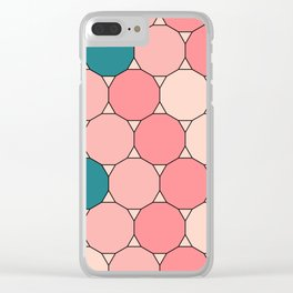 Retro Pattern Dodecagon Pink Clear iPhone Case