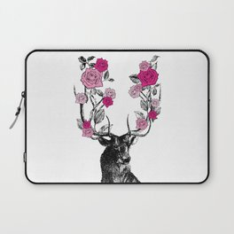 The Stag and Roses   Pink Laptop Sleeve