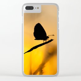 Silhouette of moths Clear iPhone Case
