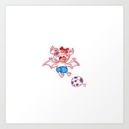 Fruit Bat 2- Soccer baby Art Print