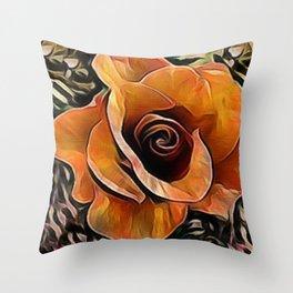 Amber Rose Throw Pillow