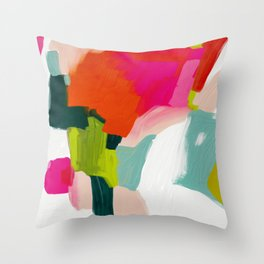 abstract pink art Throw Pillow