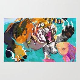 Hunting tiger Rug