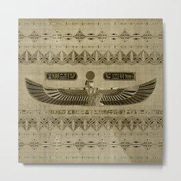 Egyptian Goddess Isis Ornament Metal Print