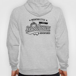 Mountain Style Above the Clouds XTREME Snowboard Adventures bw Hoody