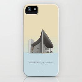 Ronchamp Chapel Le Corbusier iPhone Case
