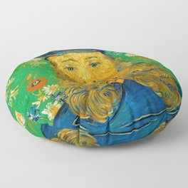 Vincent van Gogh - Portrait of Postman Floor Pillow