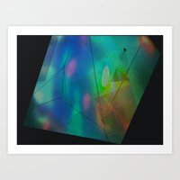 hologram Art Prints featuring Hologram by crystal palace