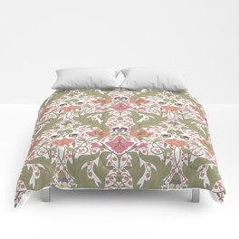 Spring Pattern with Poppy Flowers and Gladioli Comforters