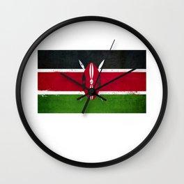 Kenya Flag design | Kenyan design Wall Clock