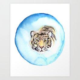 Glamour Tiger Art Print