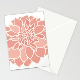 Dahlia flower Stationery Cards