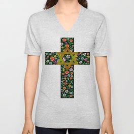 Christian David Cross Unisex V-Neck