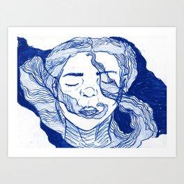 blue dream 2 Art Print