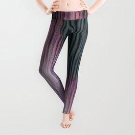 446 2 Lavender & Gray Watercolor Stain Leggings
