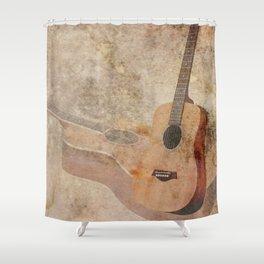 Guitar Instrument Wall Art Musical Home Decor Music Art A629 Shower Curtain