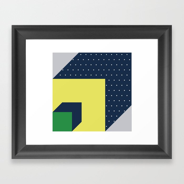 2d illusion Framed Art Print