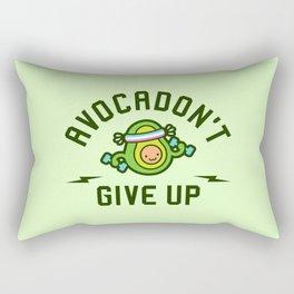 Avocadon't Give Up (Avocado Pun) Rectangular Pillow
