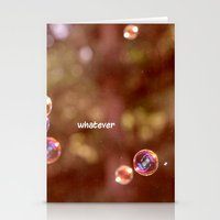 whatever Stationery Cards featuring whatever by Bunny Noir