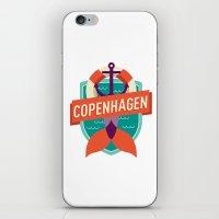 copenhagen iPhone & iPod Skins featuring Copenhagen by Fedi