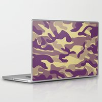 military Laptop & iPad Skins featuring Purple Military Camouflage Pattern by SW Creation