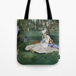 Édouard Manet - The Monet Family in Their Garden at Argenteuil (1874) Tote Bag