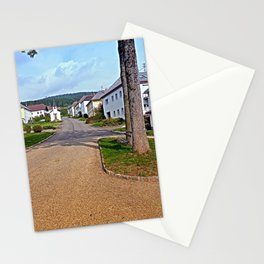 Picturesque small village center   architectural photography Stationery Cards