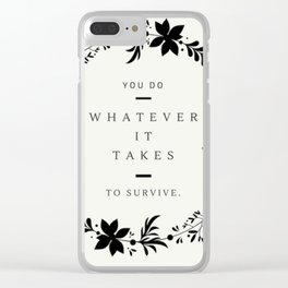 To Survive MFM Clear iPhone Case