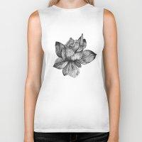 lotus flower Biker Tanks featuring Lotus by Sunali Narshai