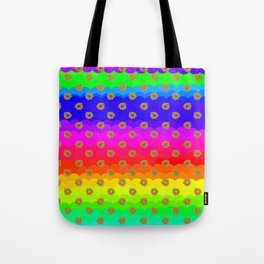 Rainbow and yellow flowers Tote Bag