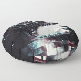 Abstract fractions of David Floor Pillow