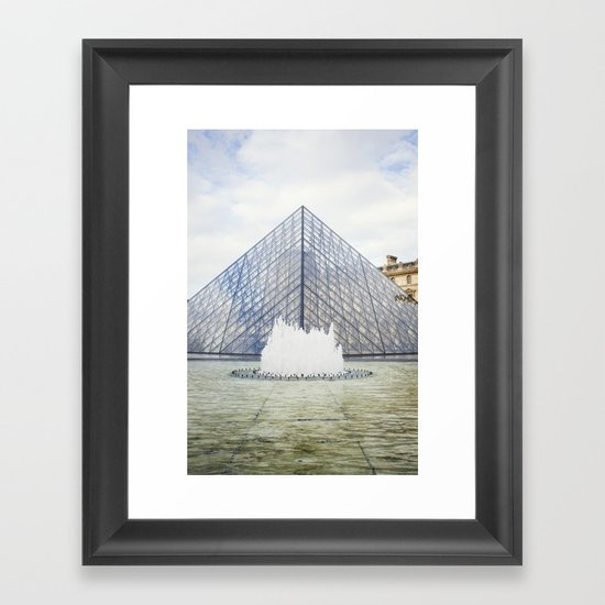 Louvre Pyramid Paris France Framed Art Print