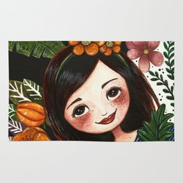 Girl in The Forest Rug
