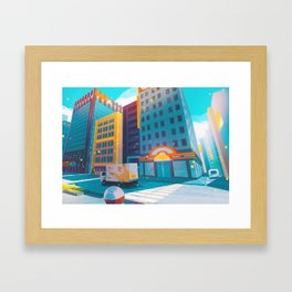Saffron City - Kanto in real life Framed Art Print