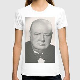 Winston Churchill Spiral Portrait T-shirt