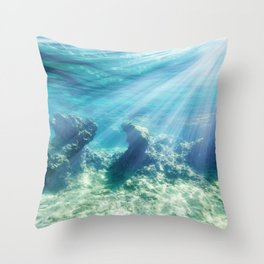 Sea Bottom Throw Pillow
