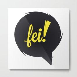 FEI blk/wht Metal Print