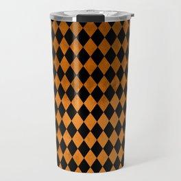 Black Orange Diamonds Travel Mug