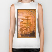 pirate ship Biker Tanks featuring pirate ship by Vector Art