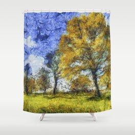 Summer Farm Van Gogh Shower Curtain